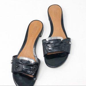 Schutz | Women's Leather Caster Sandals